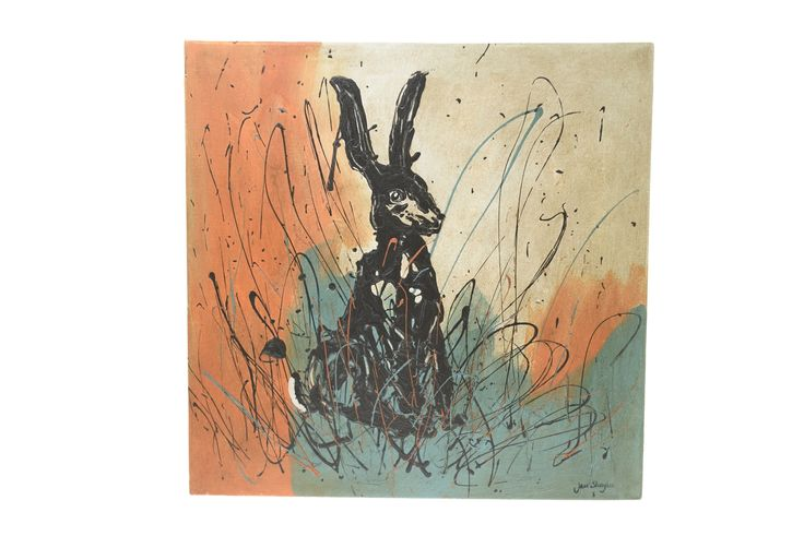 Scared hare painting, £95