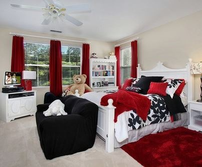 Red Black And White Kids Bedroom The Use Of Red And Or Black On Walls Must Be As An Accent Otherwise It Can Be Too Overpowering To The Room