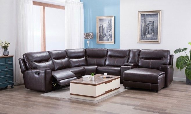 Brand New Delivery Service Available Message For Price Quote Financing Layaway No Credit Check Sectional Reclining Sectional Houston Furniture