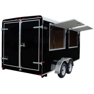 Leonard Trailer concession doors open