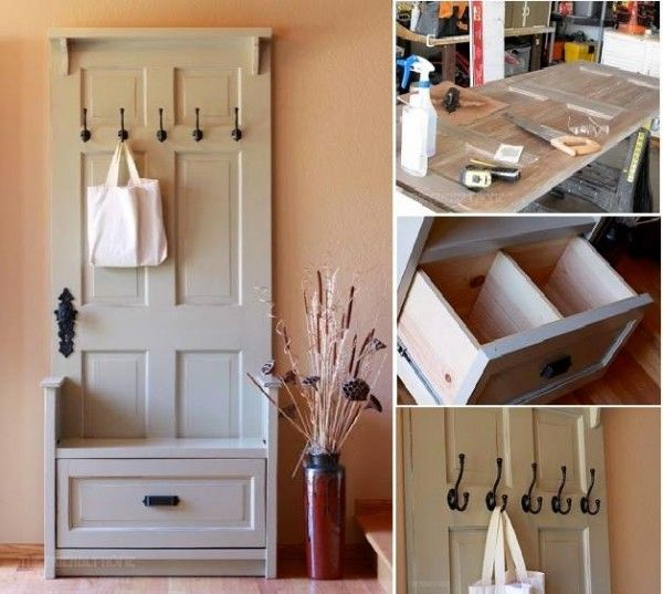 DIY Craft Project: Entry Bench Using Old Door's - Find Fun Art Projects to Do at Home and Arts and Crafts Ideas | Find Fun Art Projects to Do at Home and Arts and Crafts Ideas