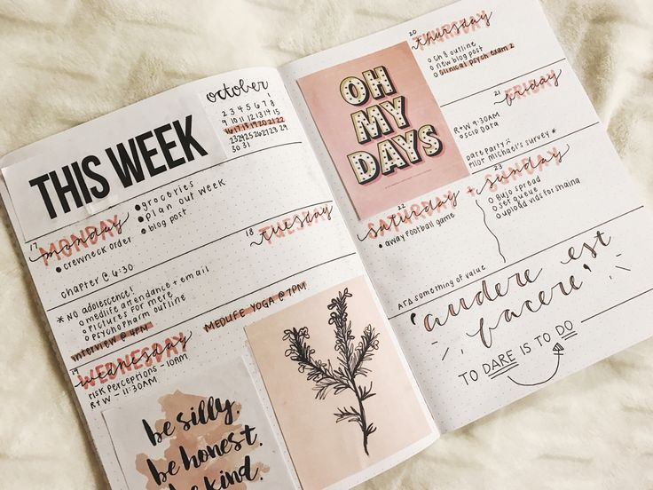 Bullet journal — studygemz: 101716 – fall break ended too fast ...