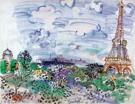 Raoul Dufy (1877-1953)        La torre Eiffel