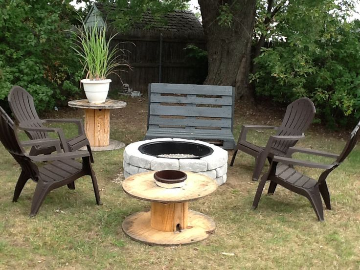 Cable spool ideas | Fire Pit | Pinterest | Cable spool ...