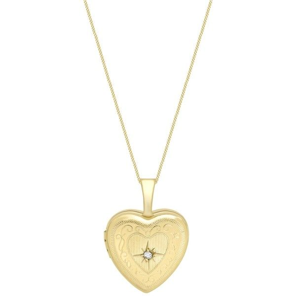 IBB 9ct Gold Heart Locket Pendant Necklace, Gold (£125) ❤ liked on Polyvore featuring jewelry, necklaces, accessories, gold, gold chain pendant, gold pendant necklace, heart chain necklace, gold locket necklace and locket necklace