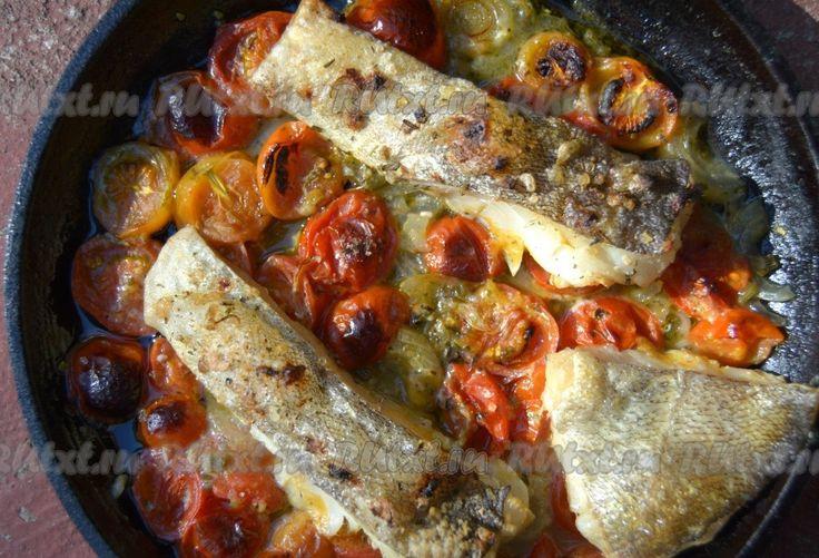 Запеченная рыба с сыром фото