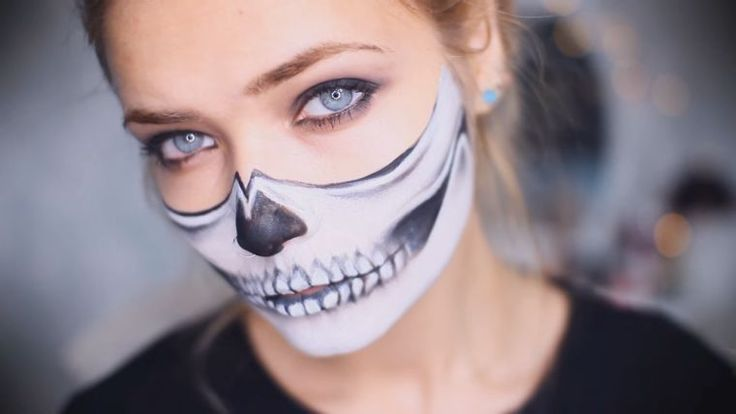 maquillaje de carnaval craneo