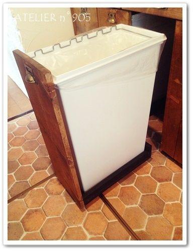 DIY**キッチンリフォームその11~引き出し式ゴミ箱。 | DIYで作る**こどもと過ごすおうち時間