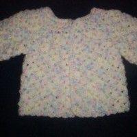 Newborn Lacy Shell Sweater
