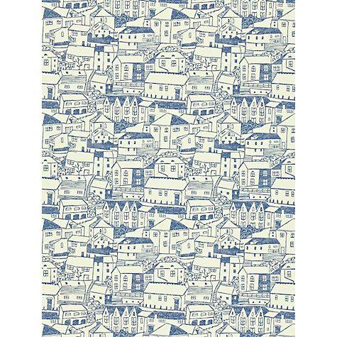 Buy Sanderson St Ives Wallpaper Online at johnlewis.com indigo ivory
