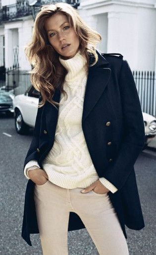 Classic winter style - perhaps with a warm scarf