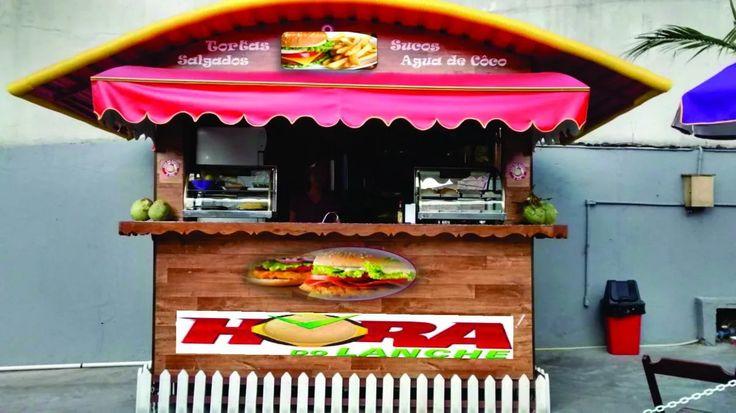 trailer tipo quiosque para lanches, sorvetes, bolos, pizza