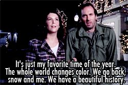 people make fun of me every winter cause i can smell snow. well she did too. and that makes it all sooo much more awesome(: i love gilmore girls.