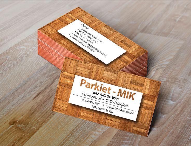Projekt wizytówki Mik Parkiety