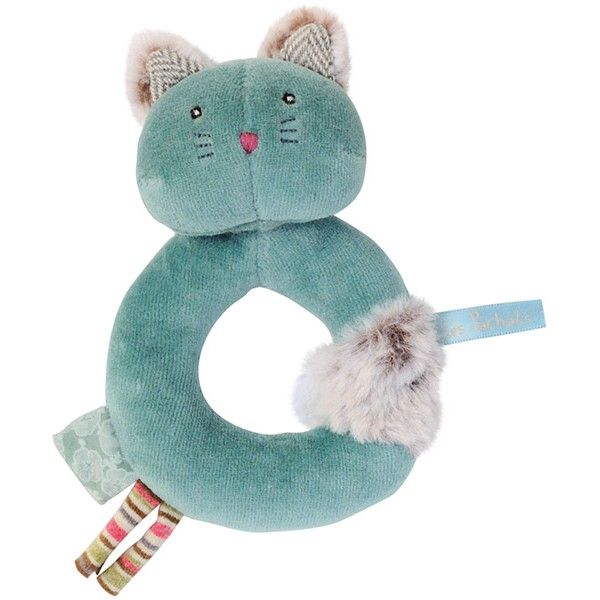 Moulin Roty - Les Pachats - rammelaar kat Chacha blauw #baby #moulinroty #littlethingz2