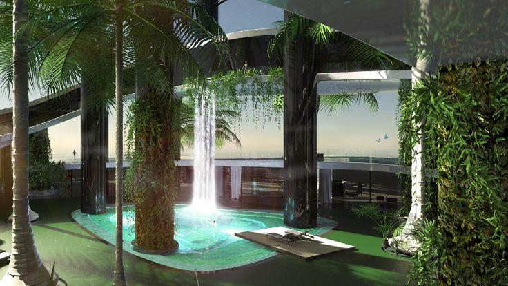 Ilha flutuante é sonho de luxo para milionários e conta com heliponto e spa