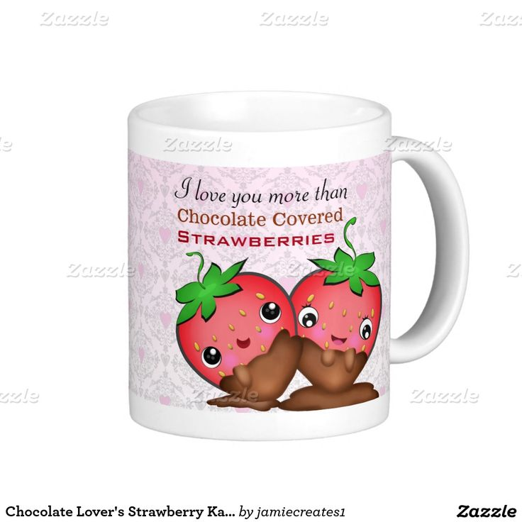 Chocolate Lover's #Strawberry #Kawaii #Love #Mug
