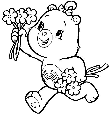 21 Best Care Bears Coloring Pages Images On Pinterest