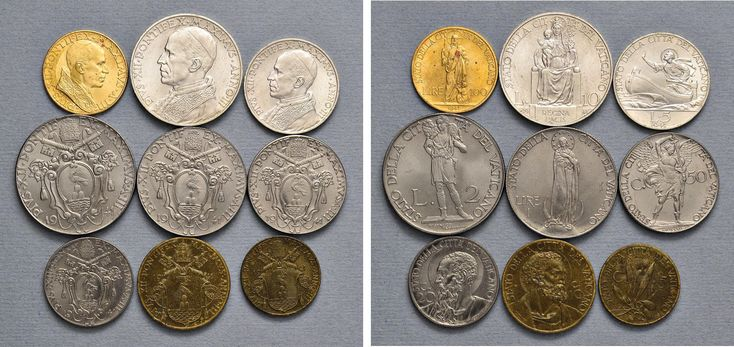 NumisBids: Nomisma Spa Auction 50, Lot 310 : Pio XII (1939-1958) Divisionale 1941 A. III – 100, 10, 5, 2 e una...