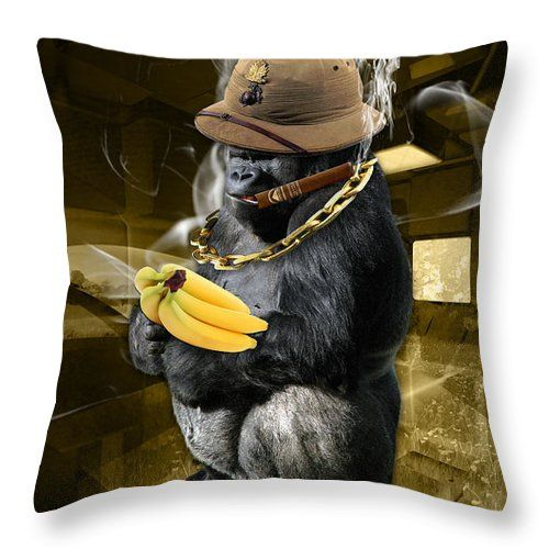 """The Ecstasy Of Gold Throw Pillow by Marvin Blaine.  Our throw pillows are made from 100% spun polyester poplin fabric and add a stylish statement to any room.  Pillows are available in sizes from 14"""" x 14"""" up to 26"""" x 26"""".  Each pillow is printed on both sides (same image) and includes a concealed zipper and removable insert (if selected) for easy cleaning."""