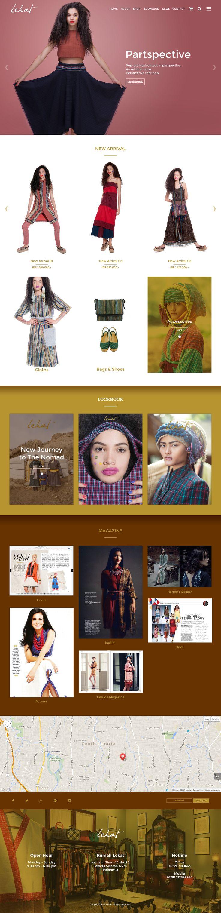Web Design Mockup v1 - Lekat - ReeZh Design
