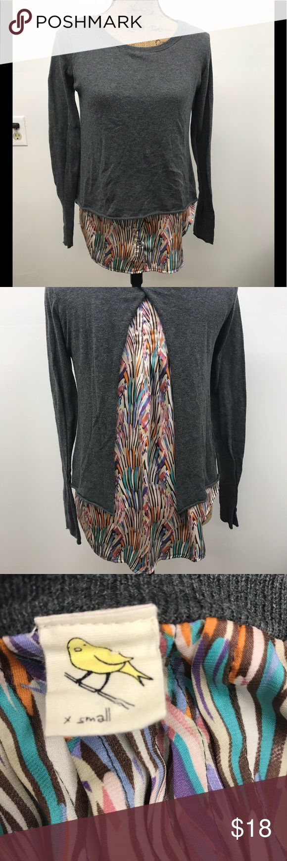"Anthropologie sparrow top size xs Anthropologie sparrow size xs measurements are app laying flat armpit to armpit 19"" double for true fit length is 27"" sleeves is 24"" preworn condition no rips tears or stains Anthropologie Tops"