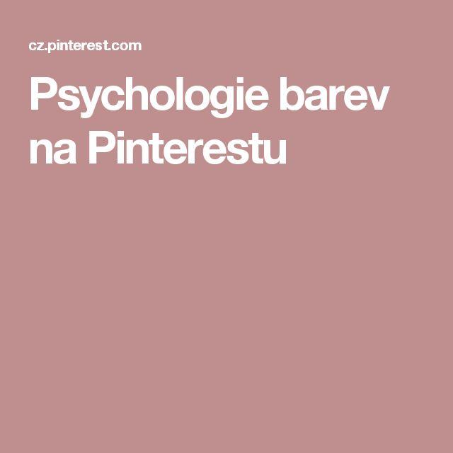 Psychologie barev na Pinterestu