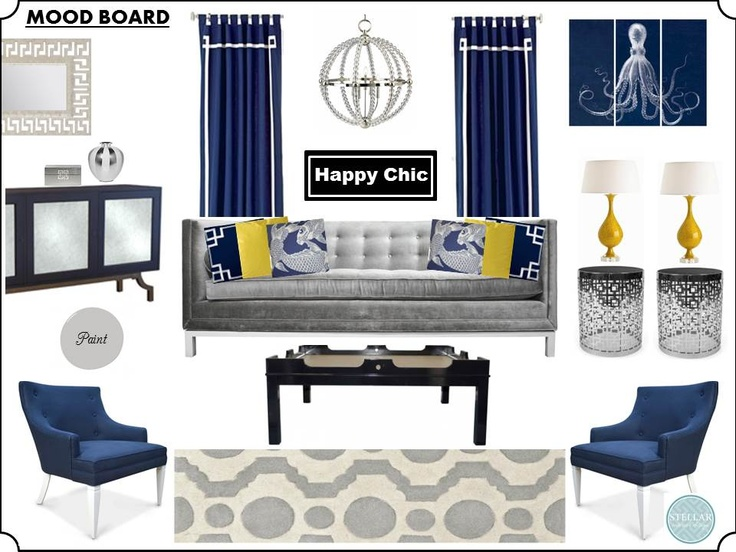 Mood Board E Design Living Room Interior