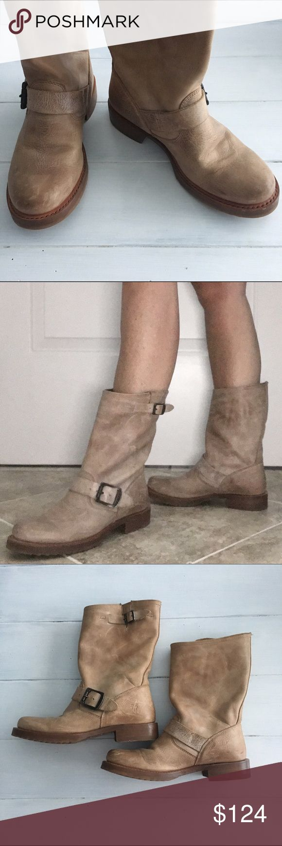 FRYE Veronica Short Boot FRYE Benchcrafted since 1863. I love the smell of leather. Veronica Short Boot in Tan.  Size 5.5M. Beautifully weathered & in great condition. Frye Shoes