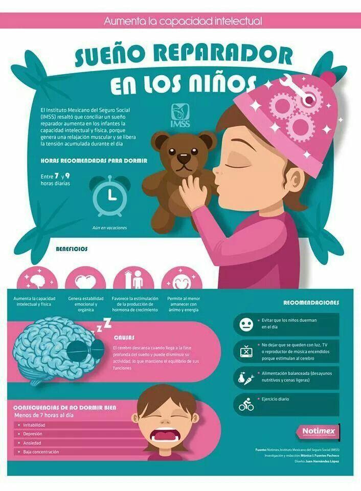 Beneficios de dormir bien en niños