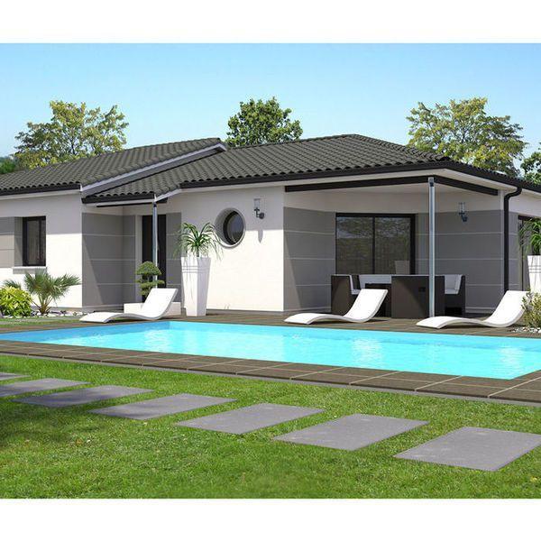 Modèle de maison Perf 4 moderne - . Retrouvez tous les types de maison à vendre en France sur Faire Construire Sa Maison