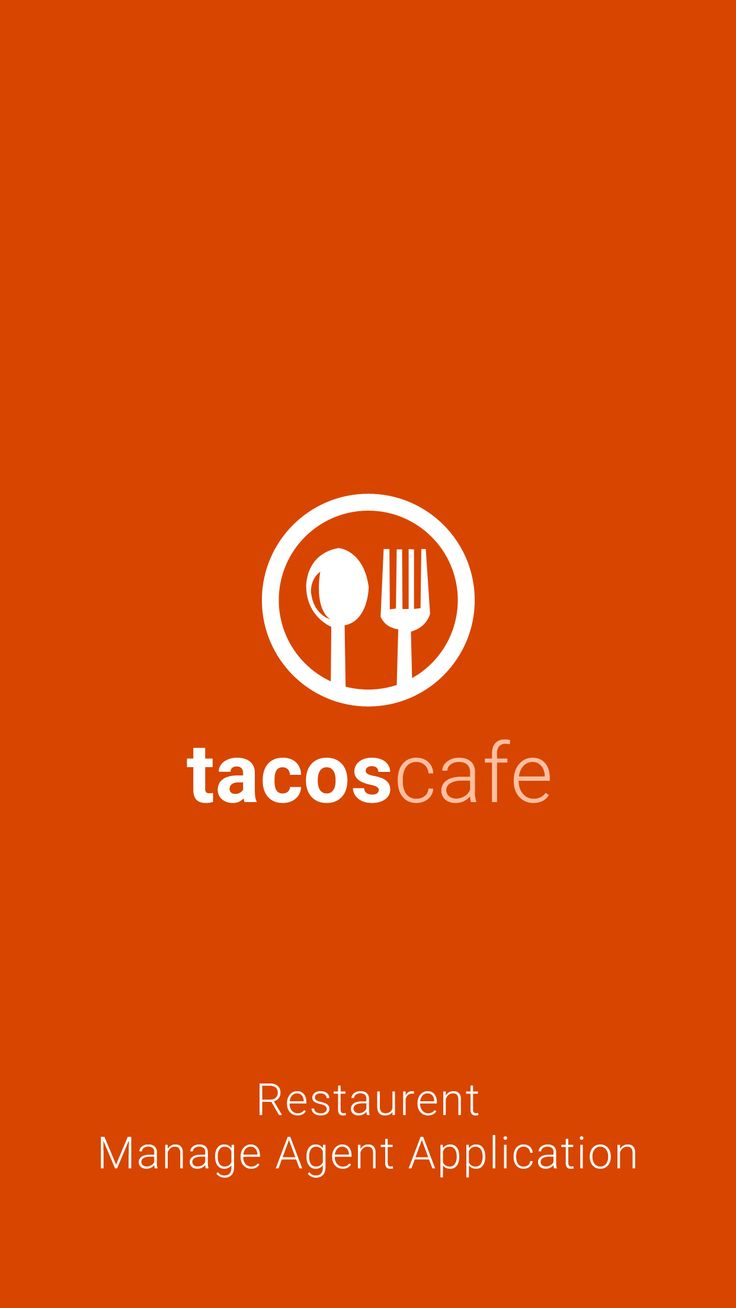 Tacos Cafe : Splash Screen Design Mockup