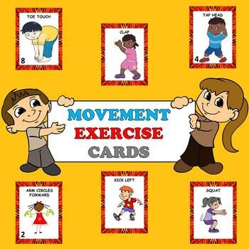 Non Locomotor Movement Exercise Cards And Lesson Plans Card