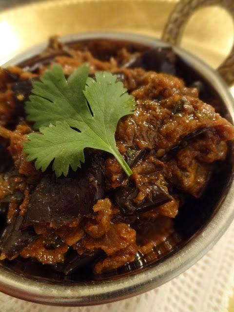Eggplant Bharta from Madhur Jaffrey