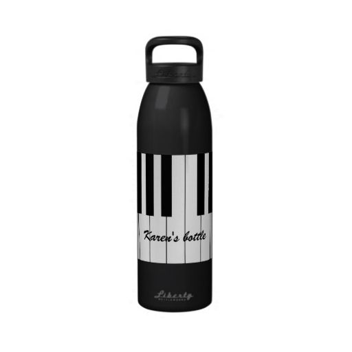 Black and White Piano Keys Liberty Bottle Drinking Bottles