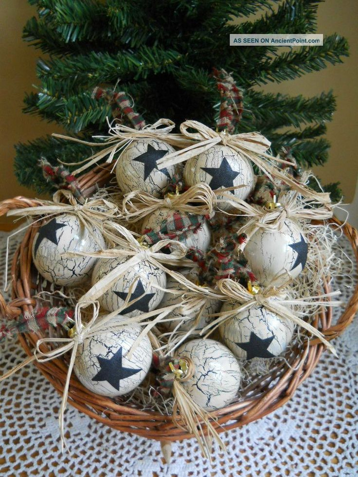Primitive Christmas Ornaments | 10 Primitive Country Christmas Ornaments Primitives photo 2