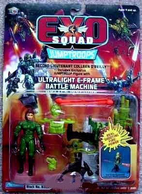 Second Lieutenant Colleen O'Reilly Exclusive Jumptroop Action Figure with Ultralight E-frame Battle Machine - Exo Squad Jumptroops