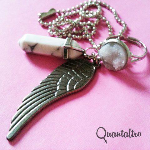 set Quarzo bianco e anello materico bianco mail to: info@quantaltro.com http://quantaltrojewels.blogspot.it/
