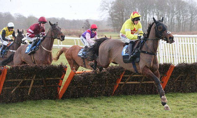 Dan Skelton's Fascino Rustico eases to victory at the Novices Hurdle #DailyMail, THOROUGHBRED, UK