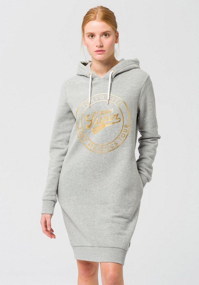 Superdry Sweatkleid »PANEL ZIP SWEAT DRESS« im angesagten