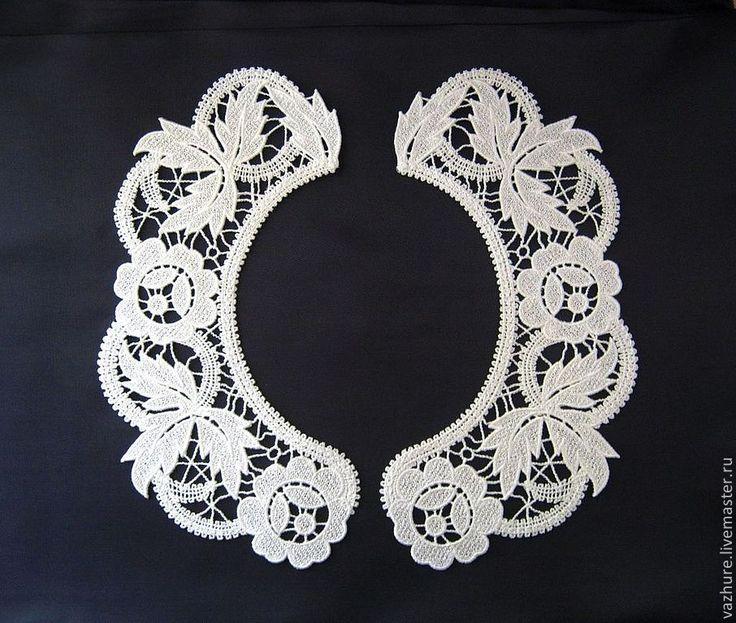 Купить Воротничок№22. - белый, цветочный, воротничок, воротник, воротничок съемный, воротничок ажурный, воротничок в подарок