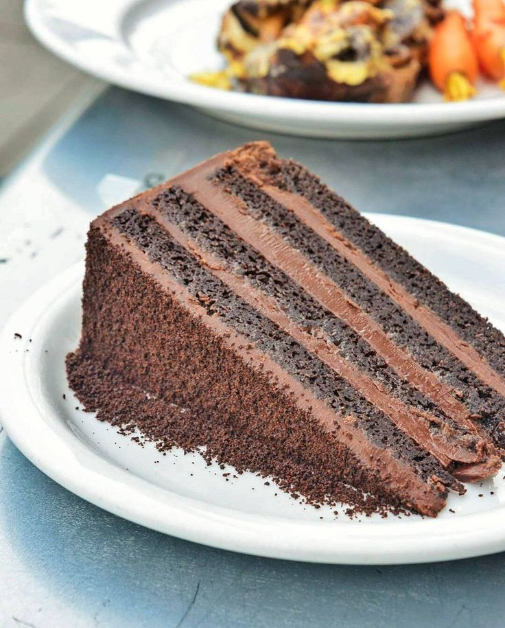 Devils Food Cake Valrhona dark-chocolate butter cake layered with ...