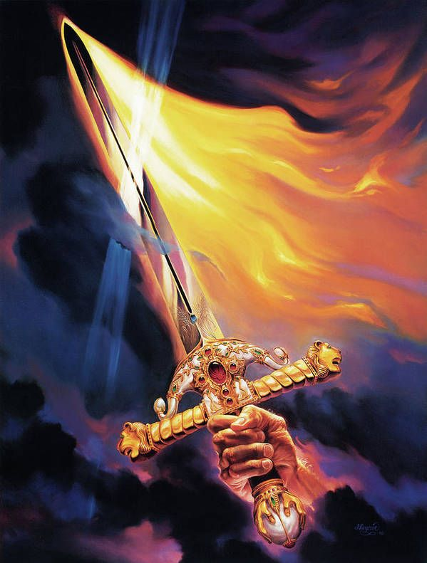 Sword of the Spirit Art Print by Jeff Haynie. All prints are professionally printed, packaged, and shipped with…    Prophetic art, Sword of the spirit, Christian art