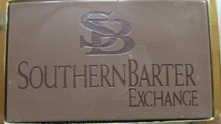 Engraved milk chocolate business card.