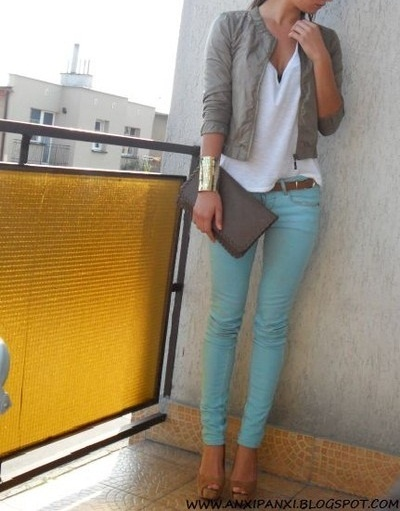 Baby Blue Pants outfit