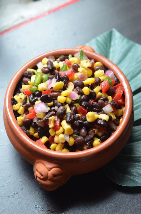 A quick and easy black bean and corn salsa recipe. Add this to your Cinco de Mayo, summer party, or taco bar menu!