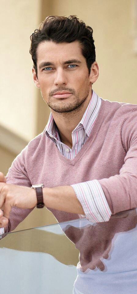 Only David Gandy could pull off a pink jumper, haha. Such a handsome-looking man and apparently a really lovely bloke too.