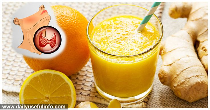 Juice That Regulates The Thyroid, Eliminates Swelling and Helps You Lose Weight