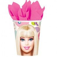 Cups Barbie (266ml) pkt8 $7.95