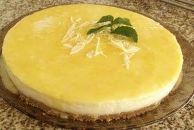 Cheesecake de limão e gengibre